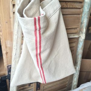 red grain sack shopper